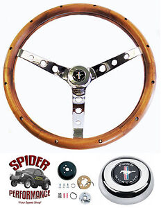 1965 1969 Mustang Steering Wheel Pony 15 Classic Walnut