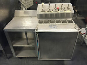 Silver King Skf 4 Refrigerated 5 Pump Ice Cream Topping Fountainette