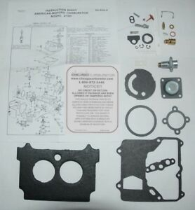 1974 80 Carb Kit Motorcraft 2 Barrel Model 2100 Amc Jeep 304 360 Eng Eth Tol