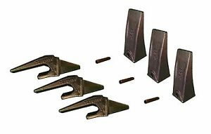 3 Mini Excavator Weld On Shanks Bucket Dirt Teeth Pins 230x156 X156l P156