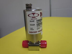 Mks Instruments 852b51pch3gd Baratron Pressure Transducer Ultraclean Flow Thr