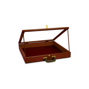 New Retail Portable Cherry Finish Wood Showcase 24 w X 24 l X 3 d