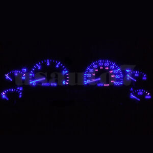 Dash Instrument Cluster Gauge Blue Smd Led Light Kit Fits 97 01 Jeep Cherokee Xj