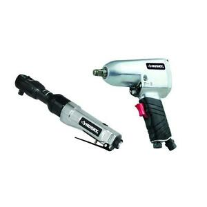 New Husky 1 2 Impact Wrench And 3 8 air Ratchet Combo us Seller