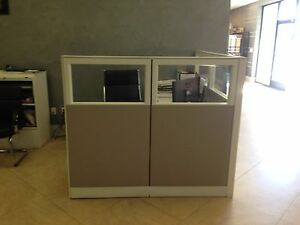Office Cubicle With Desk Furniture 63 x 74 5