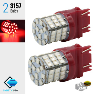 2 X 3157 3156 High Power Red Smd Led Brake Stop Tail Lamp Lights Bulbs 3057 4157