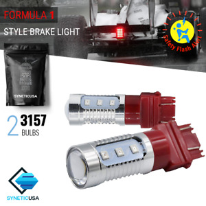 Syneticusa 3157 3057k Bright Red Flash Strobe Rear Brake Tail Led Lights Bulbs