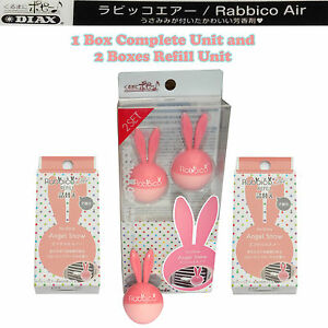 Rabbico Air Car Vent Clips Air Freshener Angel Snow Scent 2 Boxes Refill Unit