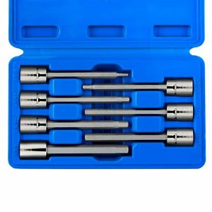 Extra Long Hex Bit Set Sae Standard 3 8 Drive Allen Socket 7pc Kit