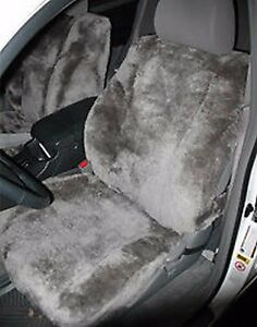 All Sheepskin Seat Covers One Pair Bucket Toyota Ford Dodge Nissan Chevy