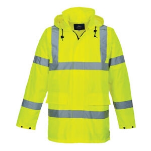 Portwest Us160 Hi vis Reflective Safety Work Lite Waterproof Traffic Jacket Ansi