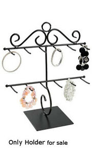 New Countertop Black Two Tiered Bracelet Holder 12 Inch W X 14 Inch H