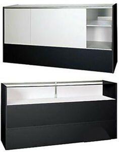 New Retail Ready To Assembled Black Jewelry Display Showcase 38 h X 18 d X 70 l