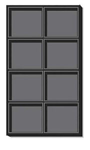 10 Pc Black Flocked Plastic Tray Inserts With 8 Compartments 14 1 4 X 7 1 2