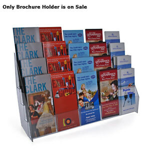 New Retail Closeout Counter Brochure Holders With 20 Pockets 21 w X 6 d X 12 h
