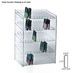 Retail 5 tiered 60 Compartment Cosmetic Counter Display For Pegboard Or Slatwall