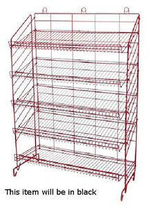 New Retail Five Shelves Adjustable Display Rack 54 h X37 w X16 d In Black