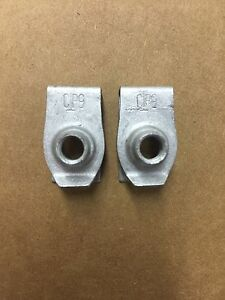 Set Of 2 Chevy Gm Zinc Extruded U Nuts Air Deflector 11516372 20416 Usa Seller