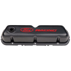 Proform Valve Cover Set 302 008 Ford Racing Carbon Fiber Style Steel For Ford
