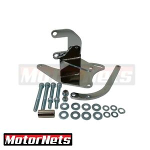 Alternator Upward Mounting Small Block Chevy Bracket Short Water Pump Chrome Sbc