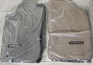 4runner Floor Mats 1996 1997 1998 1999 2000 2001 2002 Tan Or Grey Toyota Oem New