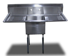 Commercial Stainless Steel 1 One Compartment Sinks Table 54 X 24 Drainboard
