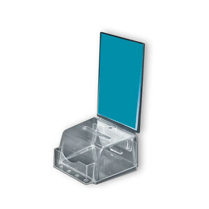 Clear Small Molded Suggestion Box With Pocket 5 5 w X 5 d X 3 5 h