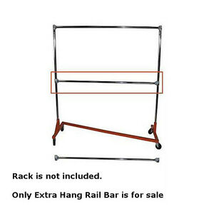 New Retails Extra Hang Rail Bar For Heavy Duty Z Truck Clothing Racks