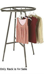 Retail Boutique Raw Steel Round Clothing Rack 48 72 h 3 Increments