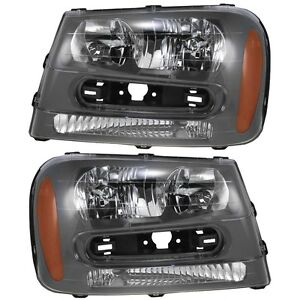 2002 2003 2004 2005 Chevrolet Trailblazer Head Light Lamp Pair Right
