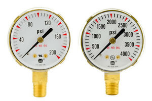 2 X 200 Psi 4000 Psi Welding Regulator Repair Replacement Gauges For Oxygen