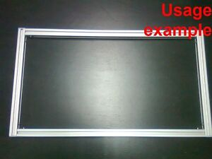 Aluminum T slot Extruded Profile 20x20 6mm Rectangular Frame Size 540x300mm