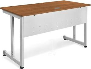 24 D X 72 W Contemporary Modular Desk And Worktable In Cherry Finish