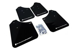 Rally Armor Mud Flaps Guards For 02 07 Rs Wrx Sti Sedan Black W White Logo
