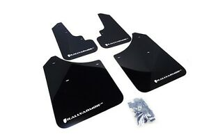 Rally Armor Mud Flaps Guards For 03 08 Subaru Forester black W white Logo