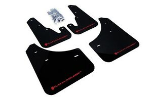 Rally Armor Mud Flaps Guards For 04 09 Mazda3 Mazdaspeed 3 Black W Red Logo