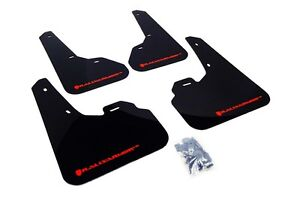 Rally Armor Mud Flaps Guards For 10 13 Mazda3 Mazdaspeed 3 Black W Red Logo