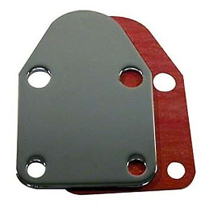 Bandit Fuel Pump Block off Plate 2057 Chrome Steel For Chevy 262 400 Sbc