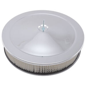 Bandit Air Cleaner Assembly 2195k Muscle Car Chrome Steel Round 14 X 3