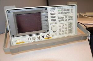 Hp Agilent Spectrum Analyzer 9 Khz To 22 Ghz 8593e 041 101 102 140 8ze Uk6