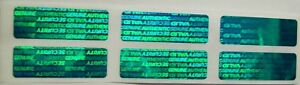 2000 Swl Green Warranty Protection Security Labels Sticker Tamper Evident Seals