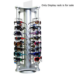 Unassembled Counter Top Rotating Sunglass Display Stand 35 5 h X 17 25 wx17 25 d