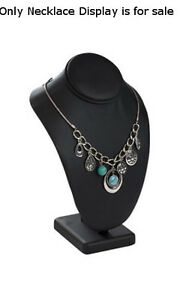 New Large Black Leatherette Single Necklace Display 4 W X 6 L X 10 H