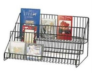 Black 3 Tier Wire Counter Literature Display Rack 23 1 2 W X 12 1 2 h X 14 d