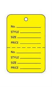 Lot Of 1000 New Retails Small Yellow Unstrung Coupon Price Tags 1 w X 1 h