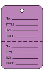 Pack Of 1000 New Retails Large Lavender Unstrung Coupon Price Tags 1 w X 2 h