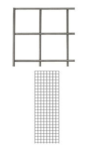 Pack Of 2 New Retails Raw Steel Finished Wire Grid Wall Panel 2 X 6