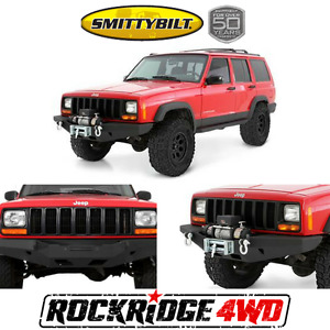 Smittybilt Xrc Rock Crawler Winch Bumper W D Ring Mounts Jeep Cherokee Xj 84 01