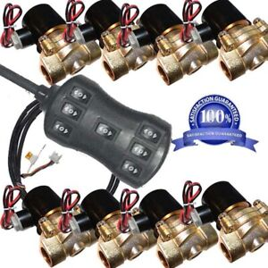Air Suspension 8pcs 250psi Brass Valves 1 2 Npt Electric Solenoid