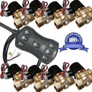 Air Suspension 8pcs 200psi Brass Valves 1 2 Npt Electric Solenoid Controller